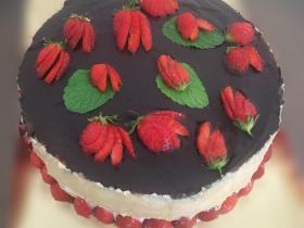 Fraisier glace de fraises