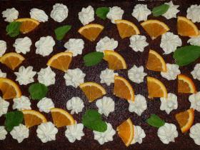 Gâteau orange Etienne et Frédérique Traiteur